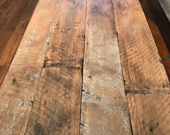 Reclaimed rustic headboard/table