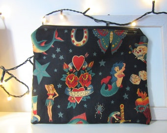 Sailor Jerry tattoos all fabric pouch