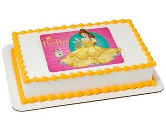 Disney Princess Belle Loyal Friends Edible Cake Topper