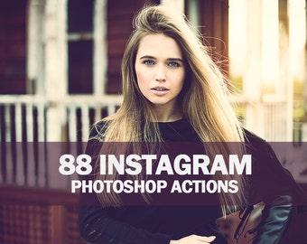 88 Instagram Photoshop Actions Collection (Action for photoshop CS5,CS6,CC)