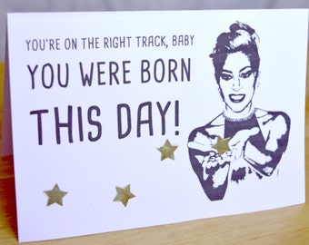 Lady Gaga 'Born This Day' Birthday Card