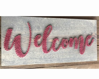 Welcome - String art - In Stock - Ships in 1-2 days