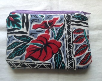 Hawaiian Floral coin purses, money purse, change purse