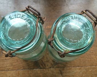 Lovely pair of vintage french canning jars!
