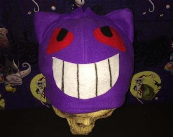 Gengar Inspired pokemon Costume Hat