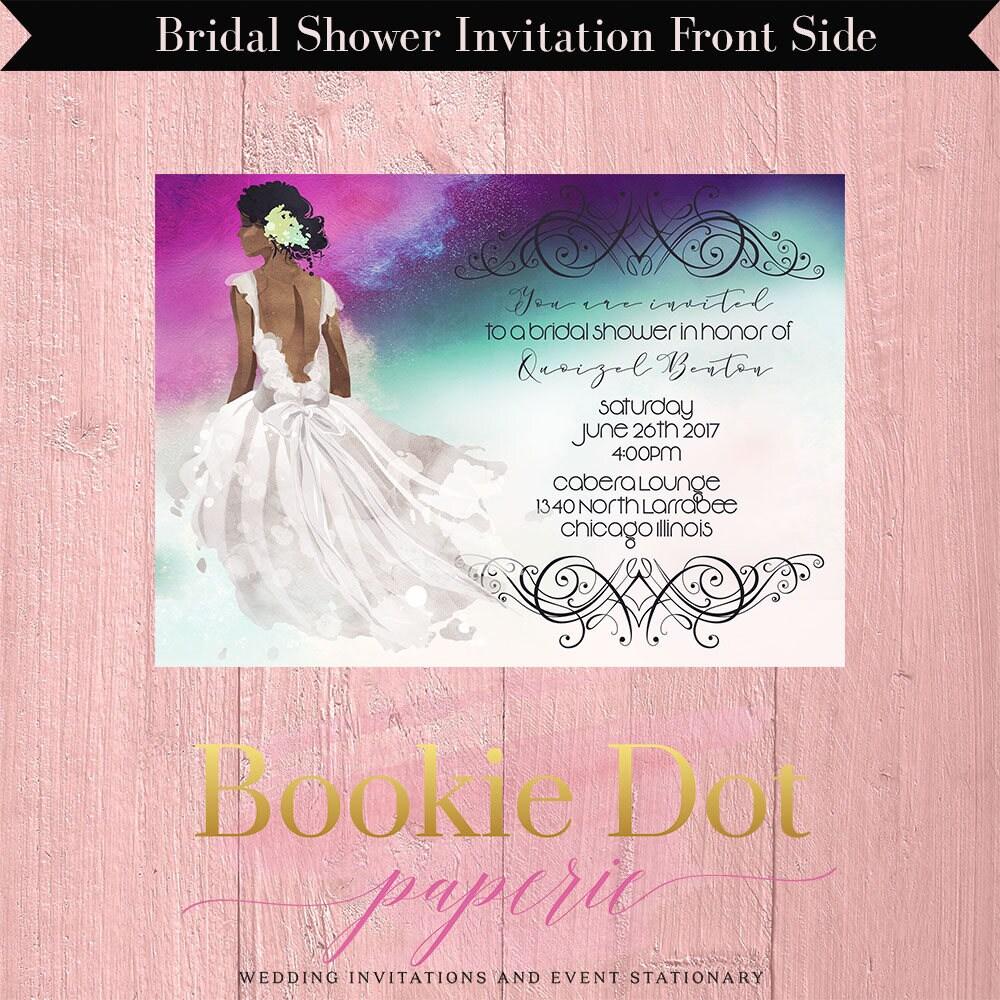 African American Bridal Shower Invitation/Bridal Shower Invitation ...