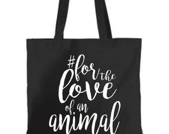 READY TO SHIP Black Canvas Tote