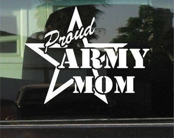 Proud army mom decal | military decal | army mom