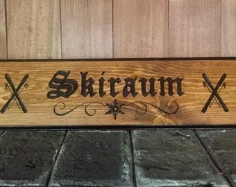 Ski Room/Skiraum German Sign