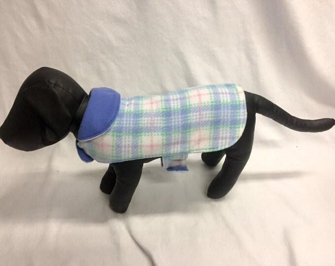 Light Blue Plaid Dog Coat 1021