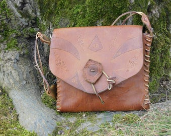 REDUCED * Tooled Leather Handbag