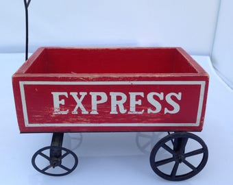 Vintage Red Wagon Express