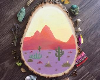 Desert Sunrise // original artwork // home decor // hand painted