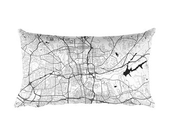 Winston Salem Pillow, Winston Salem Decor, Winston Salem Throw Pillow, Winston Salem Gift, Winston Salem Map, Art Map, Winston Salem NC