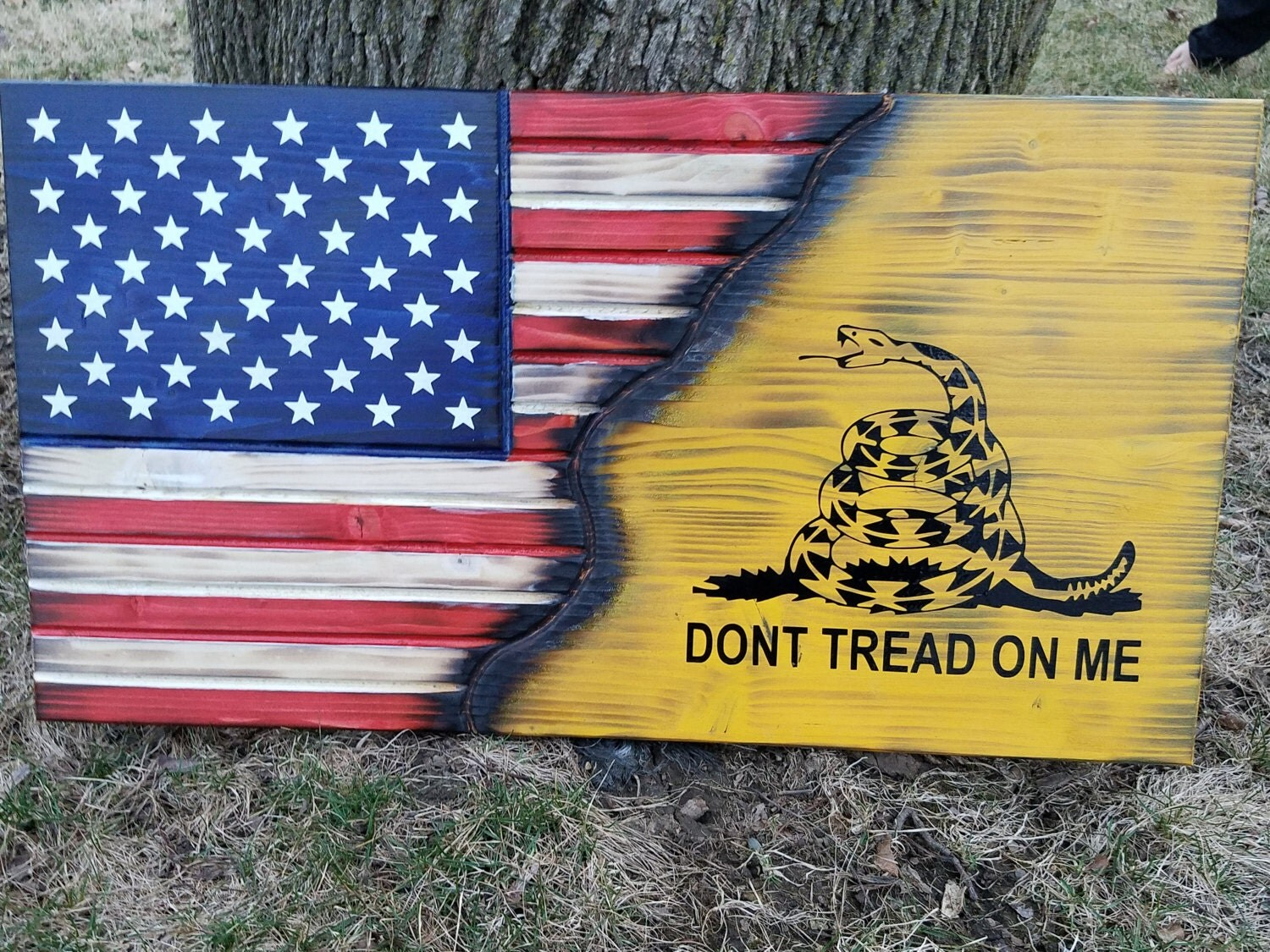 American Flag, Gadsden Flag, Dont Tread on Me, Rustic, Distressed ...