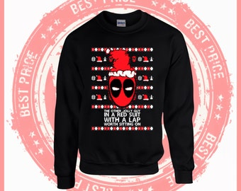 On Sale Today Deadpool sweater- Ugly Christmas sweater-Merry Christmas sweater-ugly sweater party-Merry Christmas ya filthy Animal