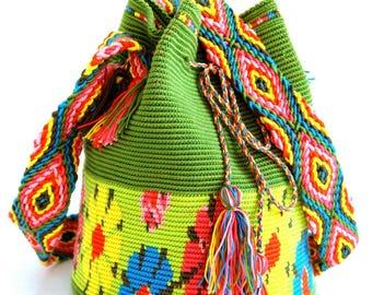Crochet Mochila Bag - Wayuu Bag - Orginal Mochila Bag