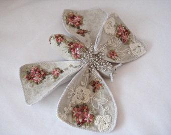 Textile butterfly/ Butterfly textile art/ Fabric sculpture/Handmade /Butterfly
