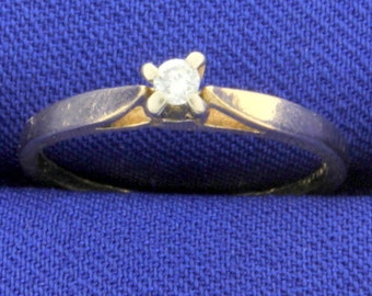 Diamond Solitaire Ring .05ct