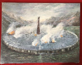 Isengard - The Lord of the Rings Oil Painting on Canvas