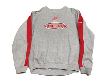 Detroit Red Wings Puma Crew Neck Sweater Size (Large).