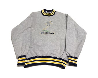 Michigan Wolverines Crew Neck Sweater Size (Large)