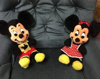 "1960's Mickey and Minnie Mouse/ 16""/ California stuffed toys/ Walt Disney"