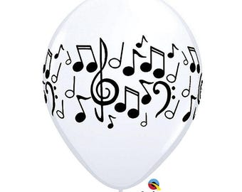 Musical Notes Balloons 11""