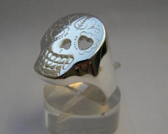 Ring skull in 925 silver