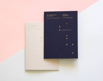 Duo of notebooks A5 - Blue Notes & Grey Notes