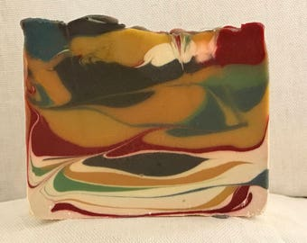 Fruit Loopy Tiger Handmade Soap with Virgin Organic Shea Butter