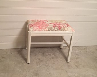 1950's vanity bench