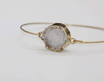 Druzy quartz, druzy quartz gemstones bracelet Bangle Bracelet custom