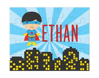 Superhero puzzle, personalized name puzzle, jigsaw puzzle, personalized kids puzzle, kids personalized gifts, gifts for boys under 20