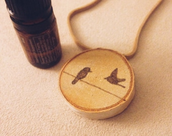 Birds On A Wire Essential Oil Defuser Necklace