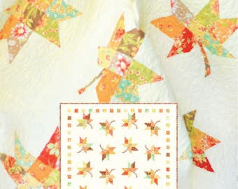 Twirl Fall Leaves Quilt Pattern