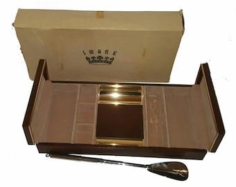 mens jewelry box vintage jewelry box watch box jewelry storage mens gift mens valet box keepsake