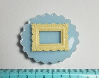 Flexible silicone mould rectangular cameo!