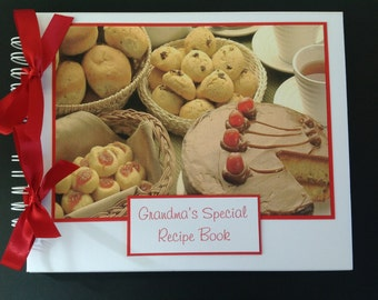 "Personalised Recipe Book 10"" x 8"" Photo Album - Scrapbook - Memories Book - Photo Book"