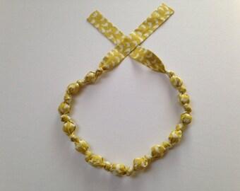 Sunrise Tulips Fabric Necklace