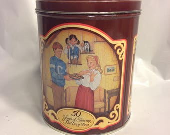 1989 Vintage Tin/Nestle Toll House Morsels Celebrates 50th Anniversary