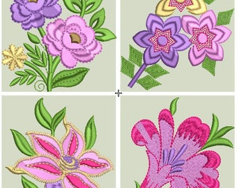 ROSE,TULIPS,ORCHIDS,sunflower embroidery design, flowers machine embroidery design, instant download files,