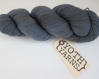 YOTH Yarns Little Brother Black Mission Fig Gray 002 Merino Cashmere Nylon Yarn