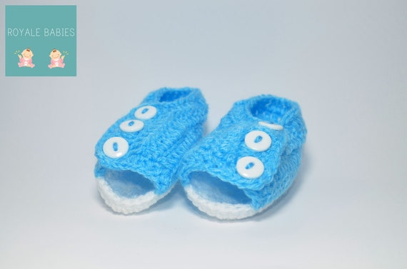 Blue baby shoes, Handmade Baby Shoe, Baby Booties, Crochet Baby Booties/ boots, Baby Boy, Crocheted new born baby, gift under 10 dollars