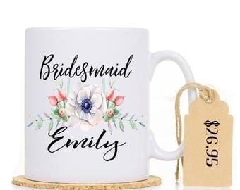 Personalised Bridesmaid Mug