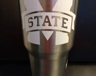 MSU Mississippi State University Bulldogs Ozark Trail 20 oz & 30 oz Tumbler in white NEW