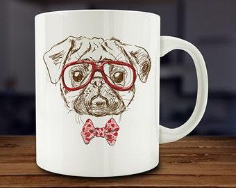 IMPERFECT SECONDS SALE - Pug Coffee Mug (D-A124)