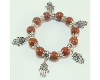 Aventurine bracelet (handmade)(B3-1)