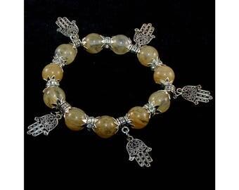 Citrine bracelet (handmade)(B3-15)