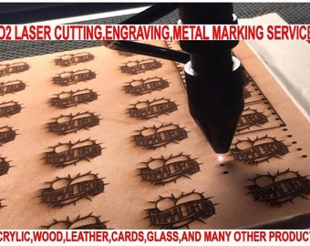 Laser engraving and Cutting service including material